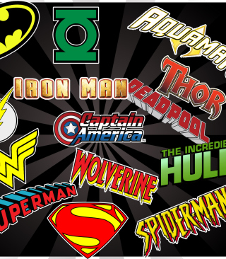 Superhero Logos Wallpaper for Nokia C5-06