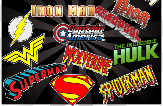 Superhero Logos Wallpaper for Fullscreen Desktop 1280x960