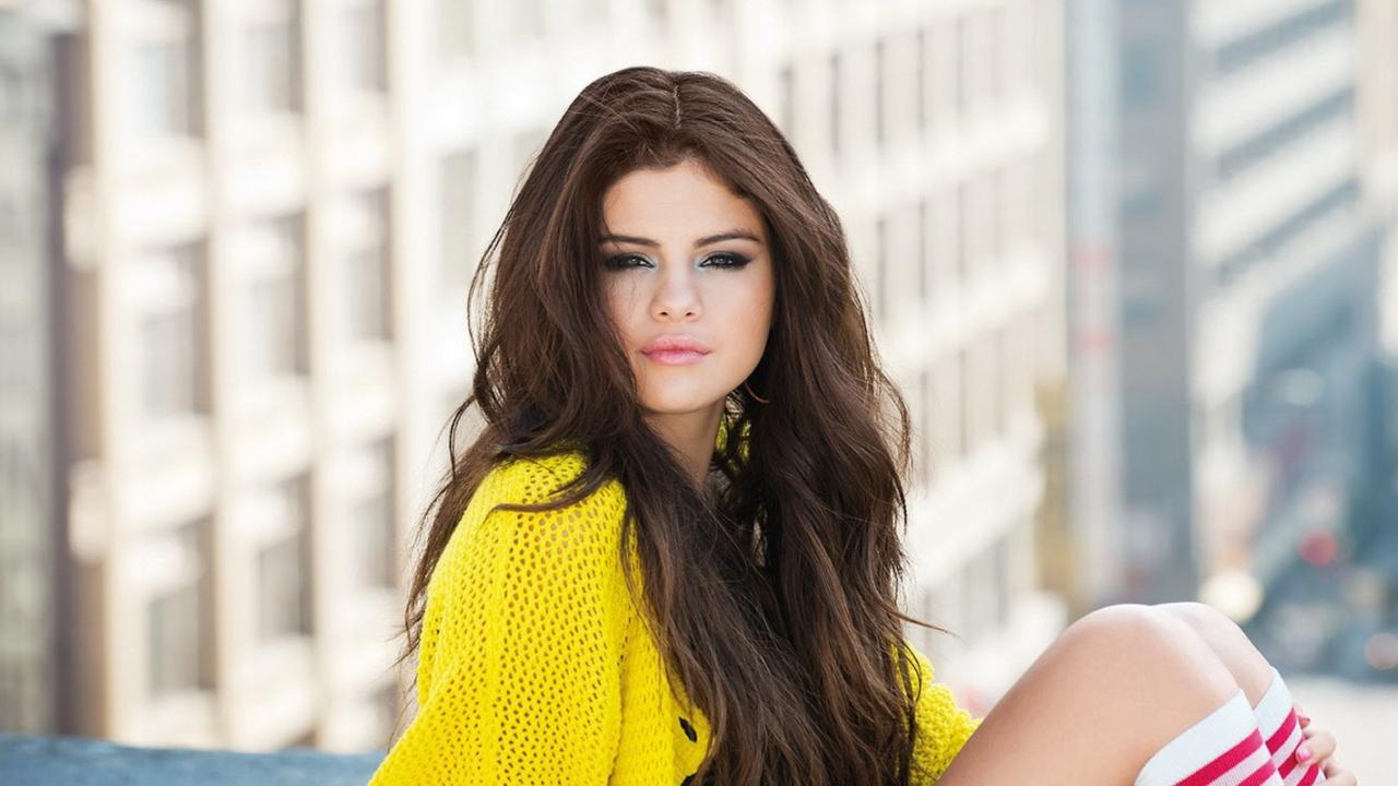 Selena Gomez Yellow Blouse
