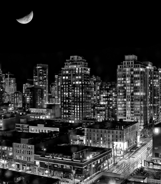 Night Canadian City papel de parede para celular para iPhone 4S