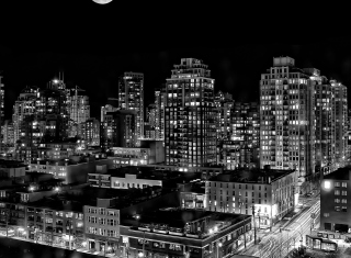 Night Canadian City Background for Android, iPhone and iPad