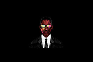 Men in Black Background for Android, iPhone and iPad