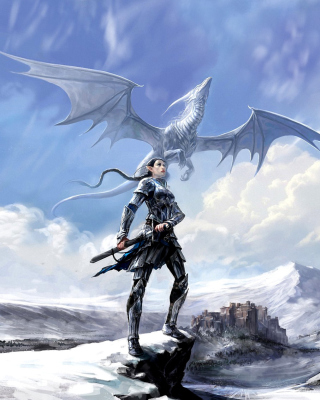 Arcane Elven Warrior in Armor Wallpaper for Nokia Asha 310