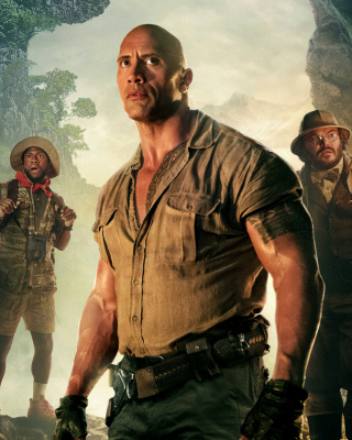Kostenloses Jumanji Welcome to the Jungle Poster Wallpaper für Nokia Asha 305