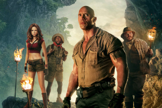 Jumanji Welcome to the Jungle Poster sfondi gratuiti per Samsung Galaxy