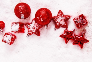Red Decorations Background for Nokia Asha 201