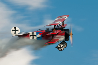 Fokker Dr I Triplane Background for Android, iPhone and iPad