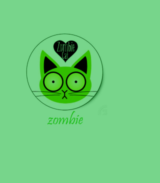 Zombie Cat Picture for Nokia Asha 306