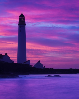 Kostenloses Lighthouse under Purple Sky Wallpaper für Nokia C6