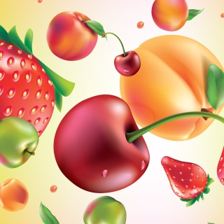 Обои Drawn Fruit and Berries для телефона и на рабочий стол iPad mini