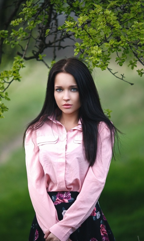 Angelina Petrova Girl wallpaper 480x800