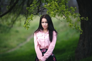 Angelina Petrova Girl Background for Android, iPhone and iPad