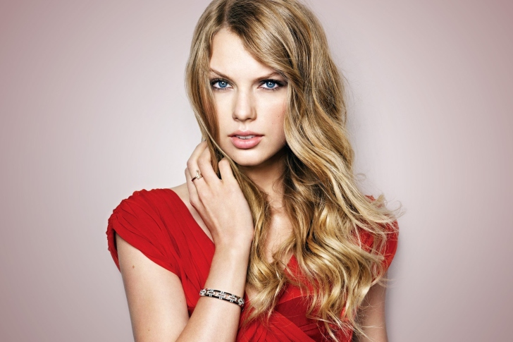 Sfondi Taylor Swift Red Dress