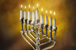 Free Lighting of Menorah in Jerusalem Picture for Android, iPhone and iPad