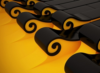 Black N Yellow 3D Background for Android, iPhone and iPad