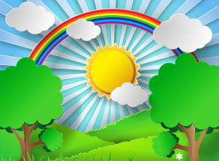 Sunny Day Background for Android, iPhone and iPad