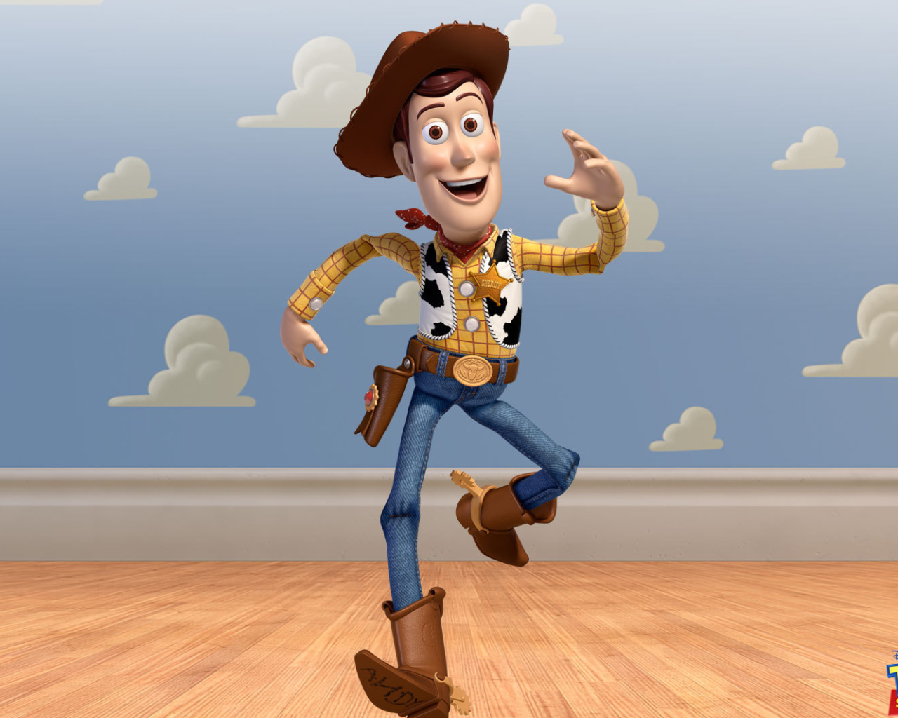 Screenshot №1 pro téma Cowboy Woody in Toy Story 3 1280x1024
