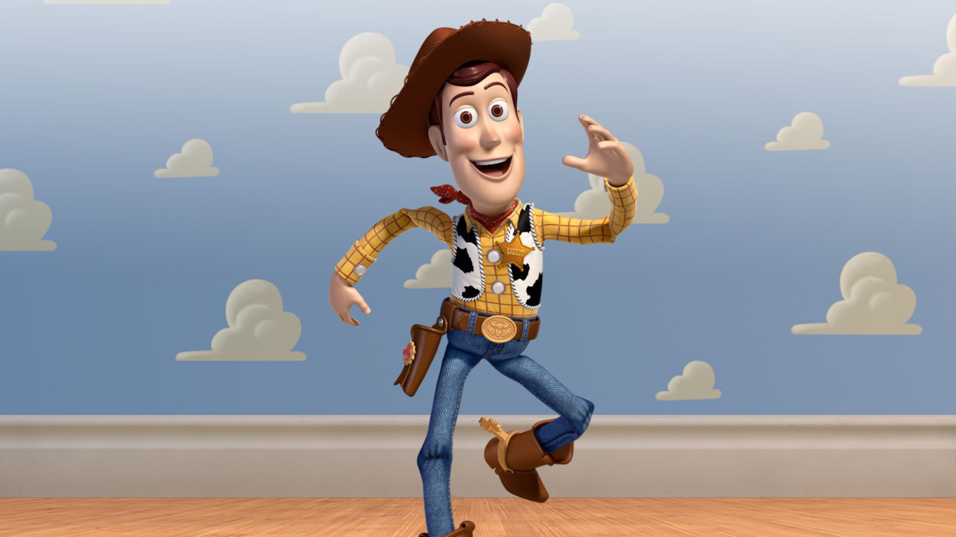 Screenshot №1 pro téma Cowboy Woody in Toy Story 3 1366x768
