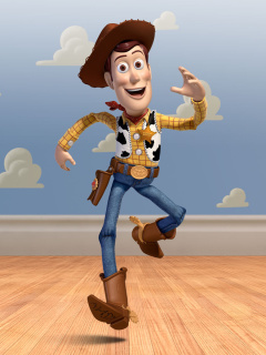 Screenshot №1 pro téma Cowboy Woody in Toy Story 3 240x320