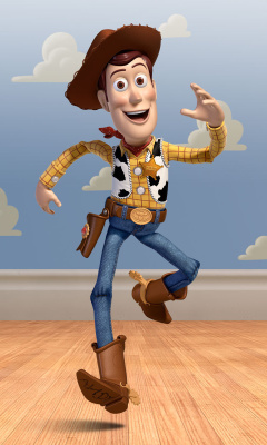 Screenshot №1 pro téma Cowboy Woody in Toy Story 3 240x400