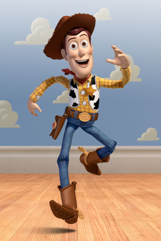 Screenshot №1 pro téma Cowboy Woody in Toy Story 3 320x480