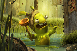 Rayman Raving Rabbids 2 Background for Samsung Galaxy Ace 3