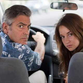 The Descendants with George Clooney, Shailene Woodley - Obrázkek zdarma pro iPad Air