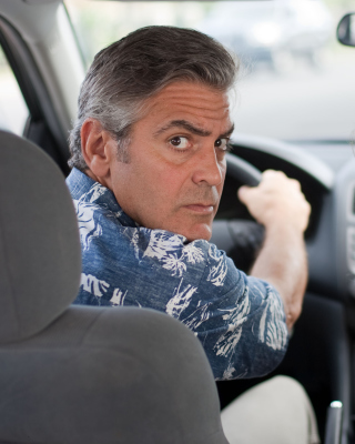 The Descendants with George Clooney, Shailene Woodley papel de parede para celular para iPhone 6