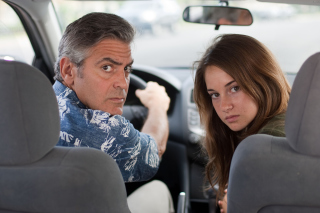 Kostenloses The Descendants with George Clooney, Shailene Woodley Wallpaper für 1024x600