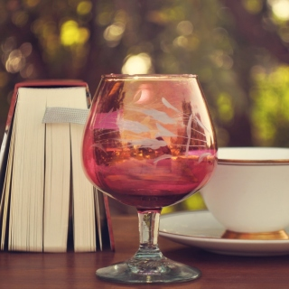 Perfect day with wine and book - Obrázkek zdarma pro 208x208