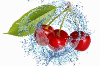 Free Cherry Splash Picture for Android, iPhone and iPad