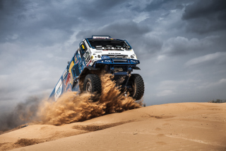 Rally Dakar Kamaz Truck Background for Blackberry RIM 4G PlayBook HSPA+