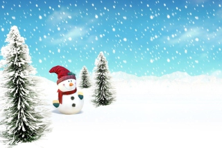 Christmas Snowman Wallpaper for Desktop Netbook 1024x600