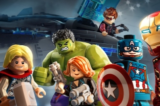 Lego Marvels Avengers Background for Nokia X2-01