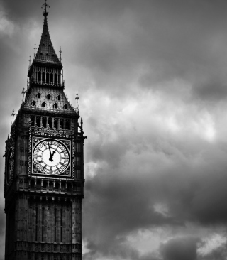 Big Ben Black And White Wallpaper for 240x320