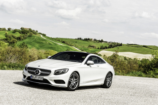 Mercedes Benz S Class Coupe Background for Android, iPhone and iPad