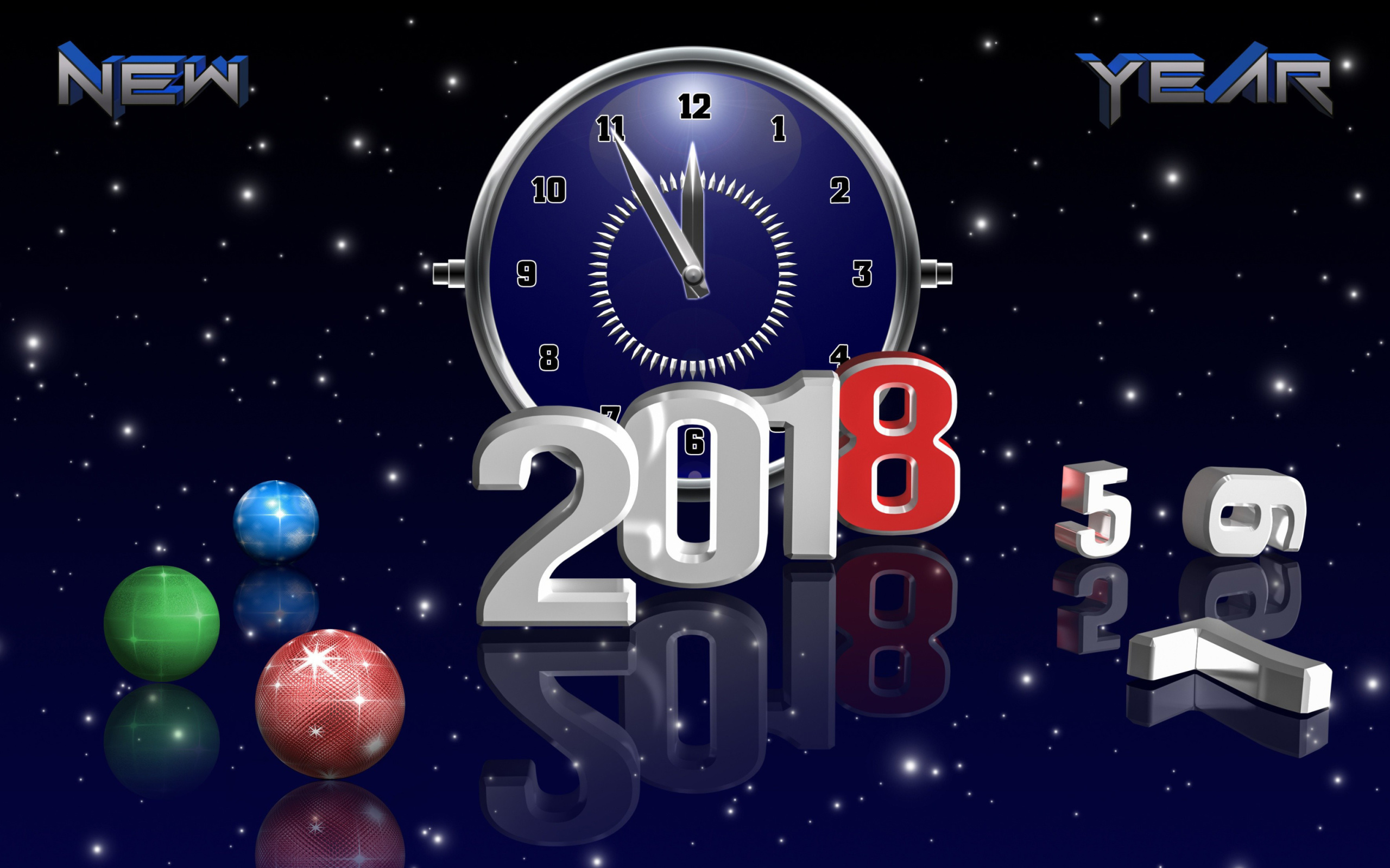 Screenshot №1 pro téma 2018 New Year Countdown 2560x1600