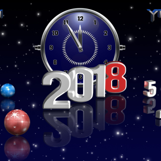 2018 New Year Countdown sfondi gratuiti per iPad mini