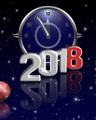 2018 New Year Countdown Wallpaper for Nokia C2-02