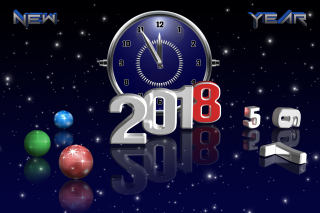 2018 New Year Countdown Wallpaper for Android, iPhone and iPad