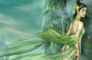 Free Green Princess Picture for Android, iPhone and iPad