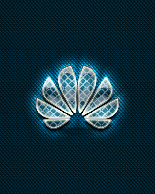 Huawei Blue Logo Wallpaper for Nokia Asha 311