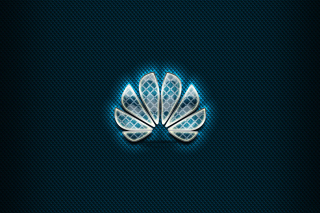 Huawei Blue Logo Wallpaper for Samsung Galaxy Ace 3