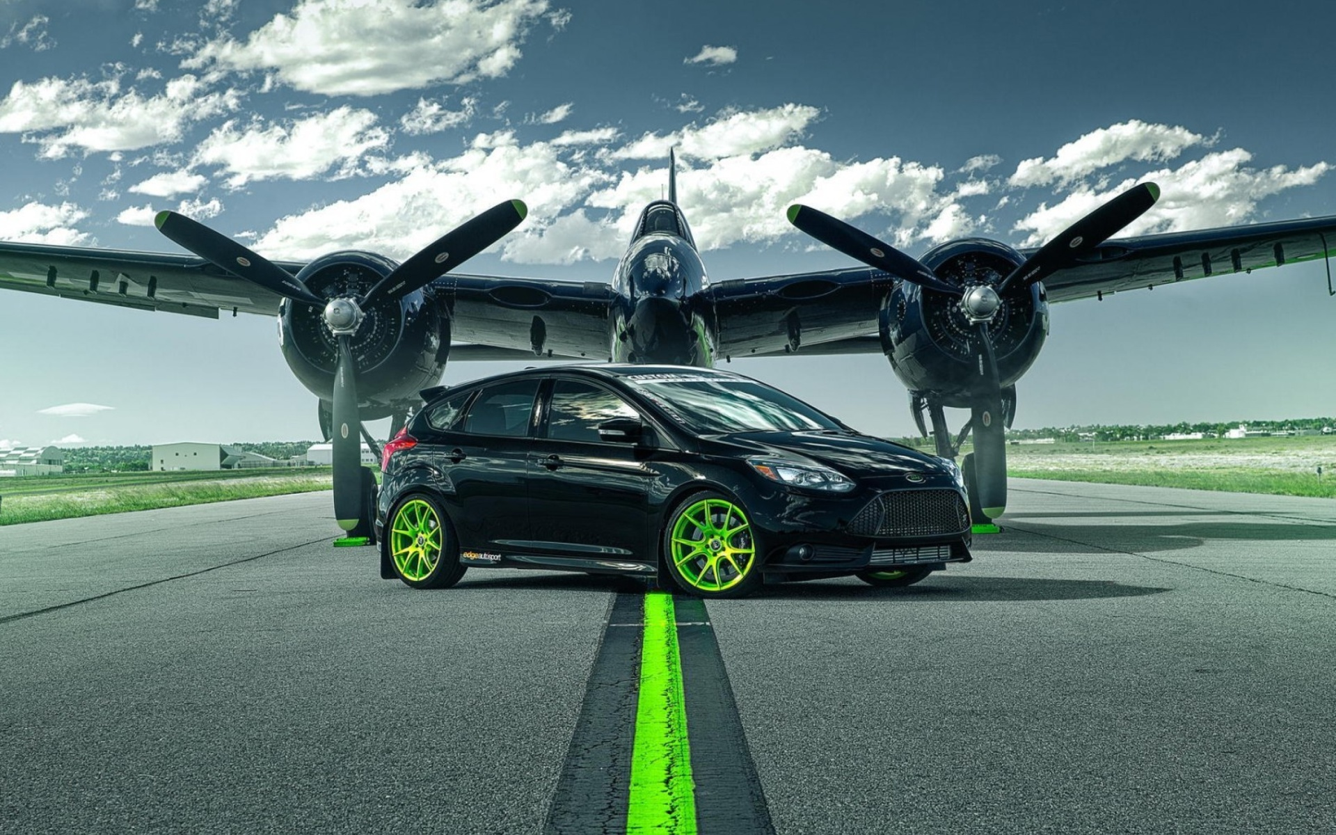 Screenshot №1 pro téma Ford Focus ST with Jet 1920x1200
