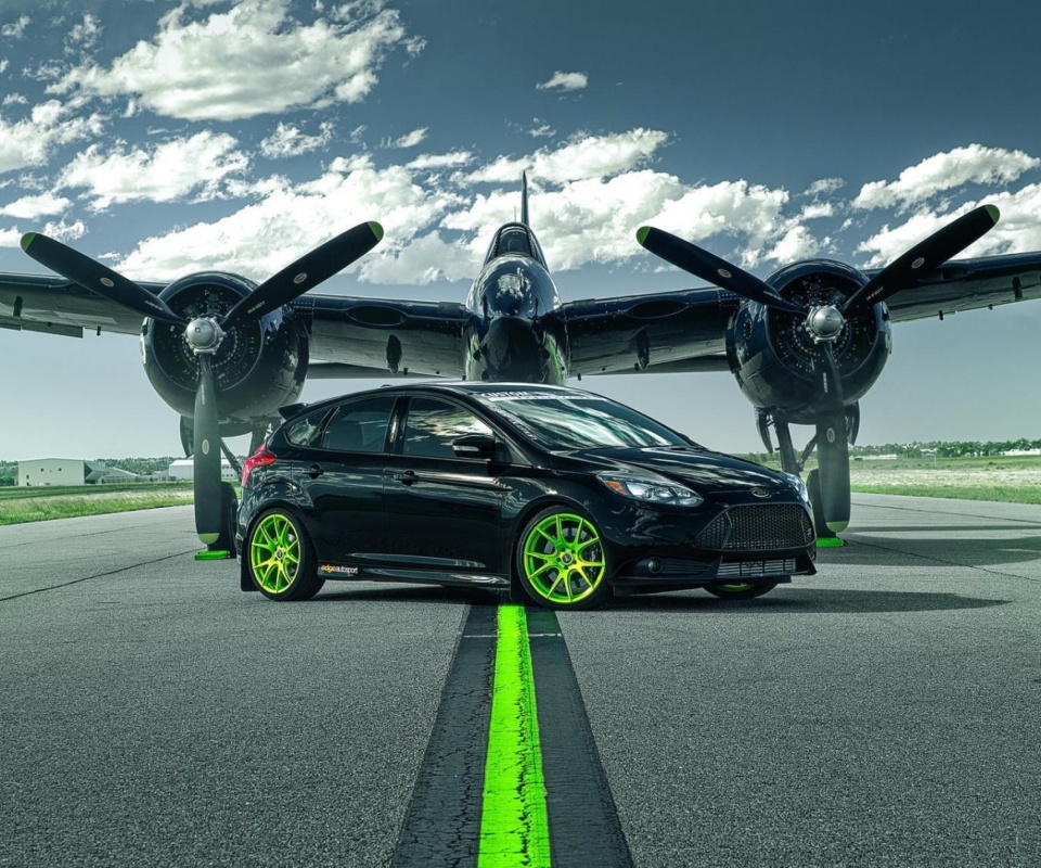 Das Ford Focus ST with Jet Wallpaper 960x800