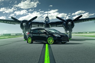 Ford Focus ST with Jet Background for Android, iPhone and iPad