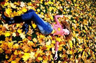 Autumn Girl Wallpaper for Samsung Galaxy S6