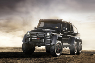 Free Mercedes-Benz G63 AMG Brabus Picture for Android, iPhone and iPad