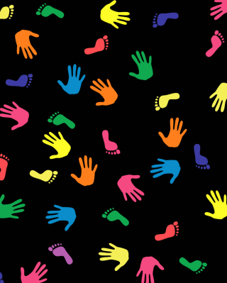 Colorful Hands And Feet Pattern - Obrázkek zdarma pro iPhone 5C