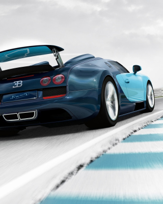 Bugatti Veyron Grand Sport Vitesse Background for Nokia Asha 306